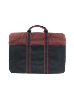 Hermes Fourre Tout Canvas Briefcase Black