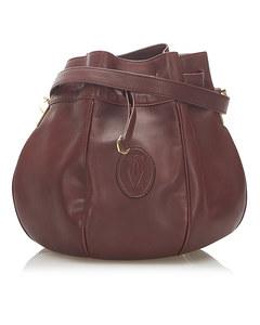 Cartier Must De Cartier Leather Bucket Bag Red