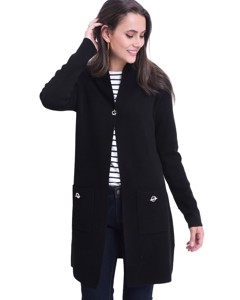 Shawl Collar Long Cardigan With Pockets