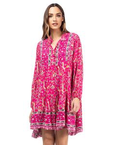 Wide Floral Print Dress