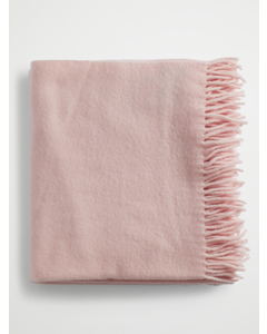 Solid Wool Scarf Large Light Pink