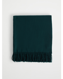 Solid Wool Scarf Large Dark Green