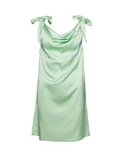 Tie Shoulder Dress Pastel Green Pastel Green