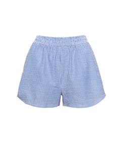 High Waisted Shorts Blue Mix Blue Mix