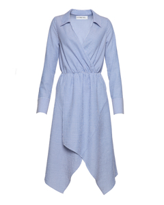 Shirt Dress Blue Mix Blue Mix