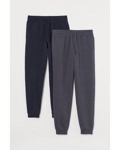 Set Van 2 Sweatpants Donkergrijs/marineblauw