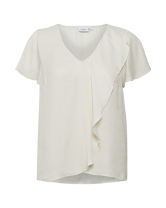 T1059, Woven Top S/s Ice