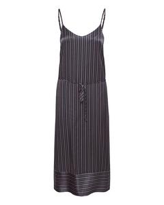 T6048, Woven Dress Calf Lenght Bl Deep