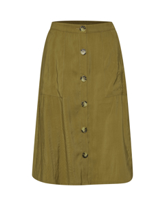 T8191, Woven Skirt On Knee D.gold
