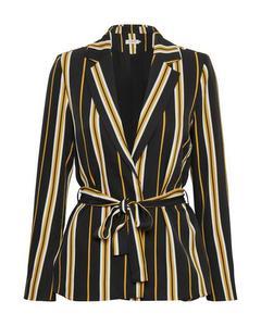 Malia Jacket Black Stripe Pattern