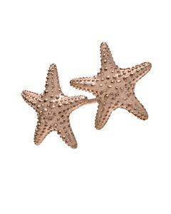 Starfish Örhängen Rosa Guld