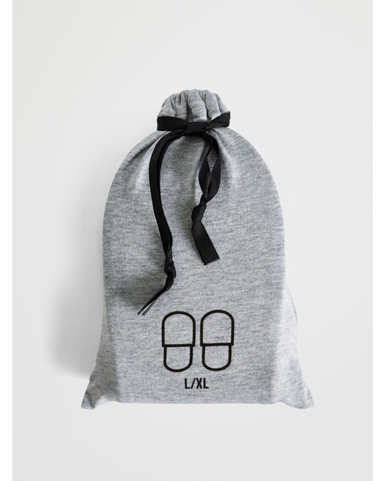 AFOUND OBJECTS Travel Slippers Jersey L/xl Light Grey