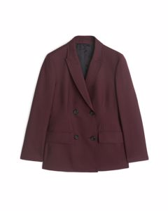 Wool Blazer Red