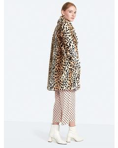 Faux Fur Coat-1 Leopard