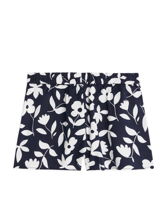 Arket Pull-On Shorts Blue/White