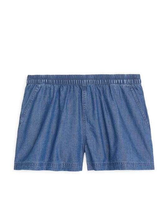 Arket Pull-On Shorts Blue