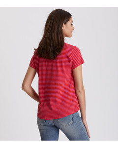 Miss Stripes Tee Hot Pink