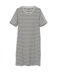 Blossom Dress White/blue Stripe