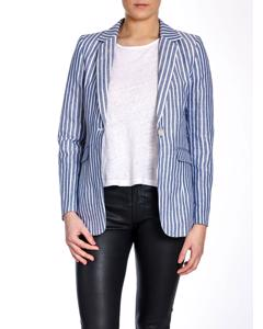 Lexington Blazer Frida Linen Blue/white Stripe