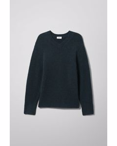Danny V-neck Sweater Blue