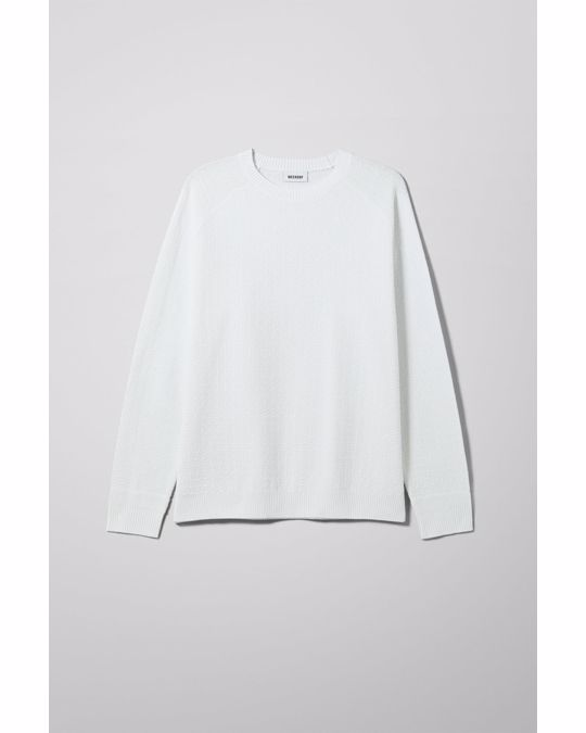 Weekday Cave Sweater White