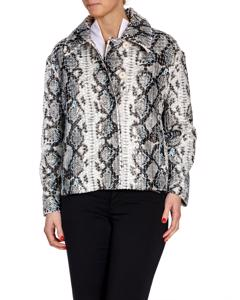 Stand Coat Marthe  Faux Fur Python Off White