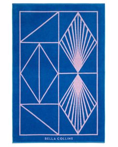 Beach Towel Shapes Palace Blue/pink Lavender