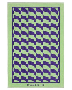 Beach Towel Waves  Ultra Violet/nile Green