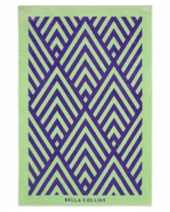 Beach Towel Illusions  Ultra Violet/nile Green