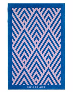 Beach Towel Illusions  Palace Blue/pink Lavender