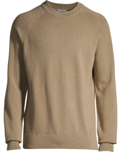 M. Sharp Cotton Tuck Knit Greige