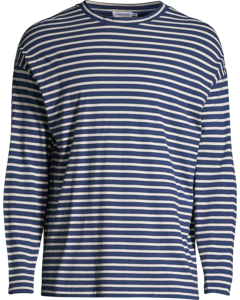 M. Striped Long Sleeve Aquatic/bone