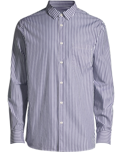 M. Tim Wide Block Stripe Shirt Navy/white