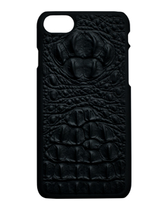 Aragon Croco Genuine Leather Case Black - Iphone 7/8