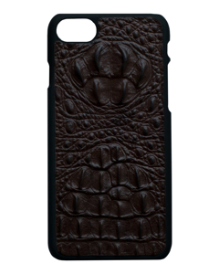Aragon Croco Genuine Leather Case Brown - Iphone 7/8