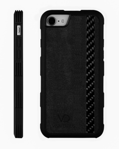 Carbon Alcantara Case Black - Iphone 7/8