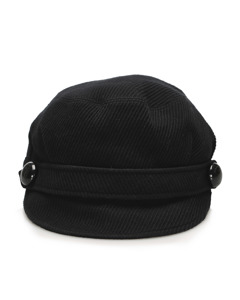 Burberry Corduroy Cap Black