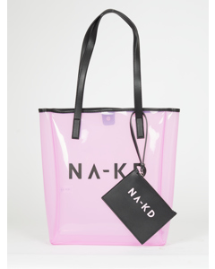 Transparent Na-kd Bag Light Pink