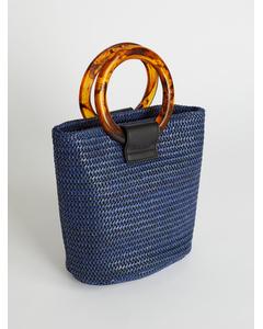 Strawy Bucket Bag Blue