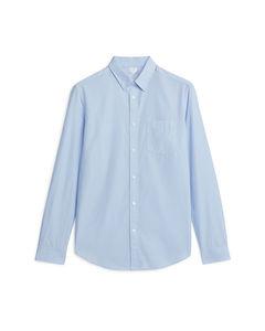 Shirt 11 aus Popeline Hellblau