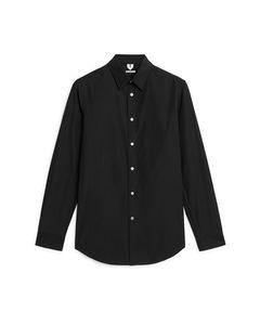 Shirt7 aus Popeline Schwarz