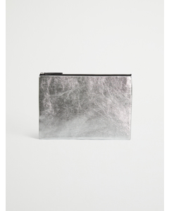 Leather Laptop Case 13'' Silver
