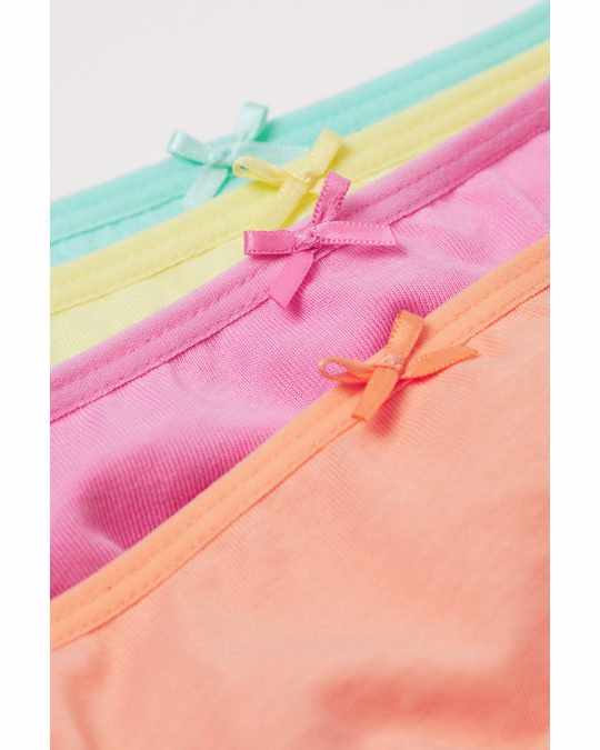 H&M 10-pack Jersey Briefs Pink/light Turquoise