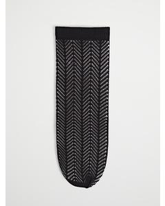 Pointelle Knitted Sock Black
