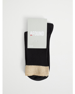 Silvia Lurex Sock Black/gold