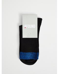 Silvia Lurex Sock Black/blue