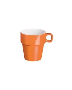 Mugg Solid Stapelbar Orange