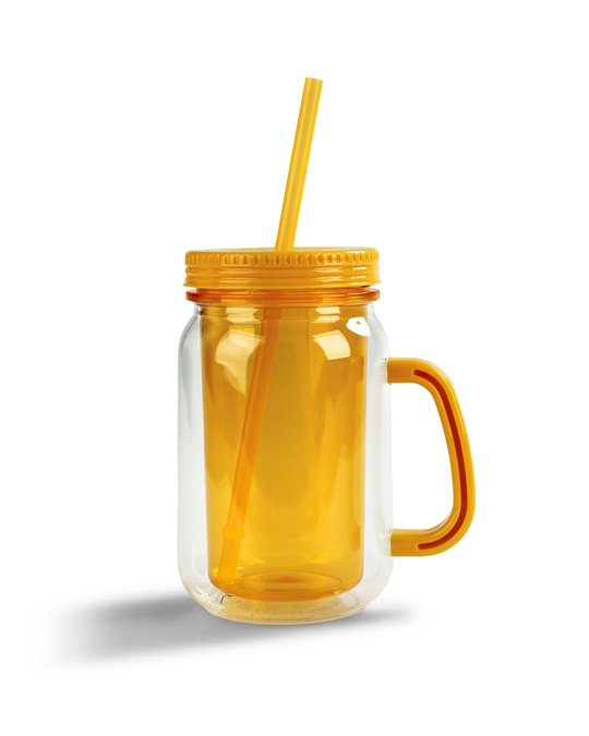 Bercato Drinking Jar To Go Orange