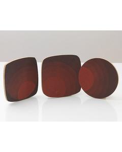 Grytunderlägg Cirkla Fyrkant Röd-svart
