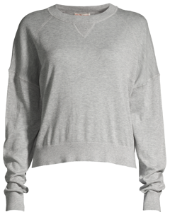 Light Knit Sweatshirt Light Grey